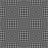 Design seamless monochrome warped pattern Stock Photo