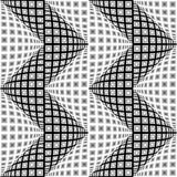 Design seamless monochrome warped zigzag pattern Royalty Free Stock Image