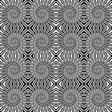 Design seamless monochrome wave pattern. Spiral te Stock Photos