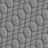 Design seamless monochrome waving pattern Stock Photos