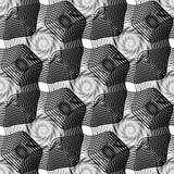 Design seamless monochrome waving pattern Stock Images