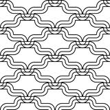 Design seamless monochrome waving pattern Royalty Free Stock Images