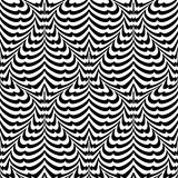 Design seamless monochrome waving pattern Stock Photography
