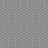 Design seamless monochrome waving pattern Royalty Free Stock Photos