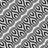 Design seamless monochrome waving pattern Stock Photo