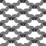 Design seamless monochrome waving pattern Royalty Free Stock Photography