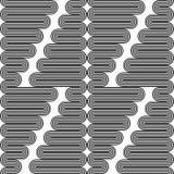 Design seamless monochrome waving zigzag pattern Stock Images