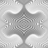 Design seamless monochrome whirl pattern Stock Image