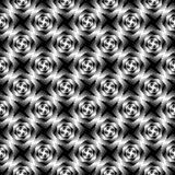 Design seamless monochrome whirlpool pattern Royalty Free Stock Photography