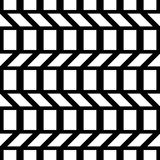 Design seamless monochrome zigzag pattern Royalty Free Stock Photos