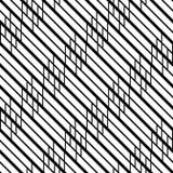 Design seamless monochrome zigzag pattern Royalty Free Illustration