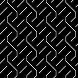Design seamless monochrome zigzag pattern Stock Photo