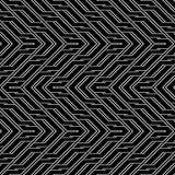 Design seamless monochrome zigzag pattern Stock Photography