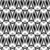 Design seamless monochrome zigzag pattern Stock Images