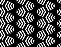 Design seamless monochrome zigzag pattern Royalty Free Stock Image