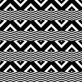 Design seamless monochrome zigzag pattern Royalty Free Stock Photography