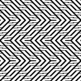 Design seamless monochrome zigzag pattern Stock Image