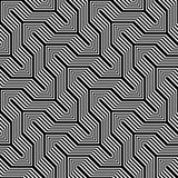 Design seamless monochrome zigzag pattern Stock Image
