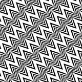 Design seamless monochrome zigzag pattern Royalty Free Stock Photo