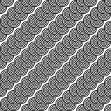 Design seamless monochrome zigzag pattern Stock Photography