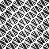 Design seamless monochrome zigzag pattern Stock Photo