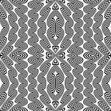 Design seamless monochrome zigzag pattern Royalty Free Stock Photography