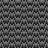 Design seamless monochrome zigzag pattern Royalty Free Stock Photos