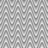 Design seamless monochrome zigzag pattern Stock Images