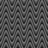 Design seamless monochrome zigzag wave pattern Royalty Free Stock Photo