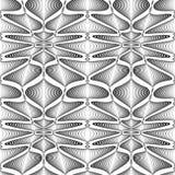 Design seamless monochrome zigzag wave pattern Royalty Free Stock Photography