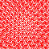 Design seamless red decorative spiral diagonal pat Royalty Free Stock Photography