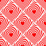 Design seamless red heart background Royalty Free Stock Images