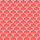 Design seamless red heart diagonal background Royalty Free Stock Images