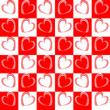 Design seamless red hearts pattern Royalty Free Stock Photo