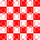 Design seamless red hearts pattern Stock Photos