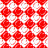 Design seamless red hearts pattern Royalty Free Stock Image