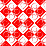Design seamless red hearts pattern Royalty Free Stock Photography