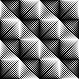 Design seamless square convex pattern Stock Photo