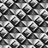 Design seamless square convex pattern Royalty Free Stock Photos