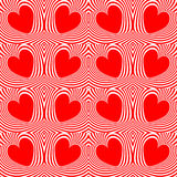 Design seamless swirl heart stripy pattern Stock Photo