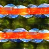 Design seamless texture green, blue, orange Stock Photos