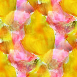 Design seamless texture yellow, pink watercolor Royalty Free Stock Photo