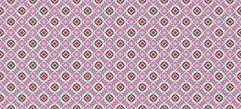 Design for seamless tiles. With geometric lines and squares in pink and red Stock Images