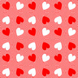 Design seamless twirl movement heart pattern Royalty Free Stock Image