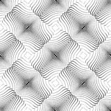 Design seamless twirl movement striped pattern Royalty Free Stock Images