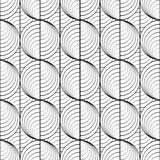 Design seamless uncolored circle lines pattern Stock Photography