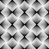 Design seamless uncolored geometric pattern Royalty Free Stock Image