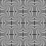 Design seamless uncolored swirl movement pattern.  Stock Photos