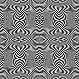 Design seamless uncolored vortex pattern Royalty Free Stock Photo