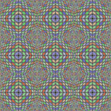 Design seamless warped diamond geometric pattern Stock Images